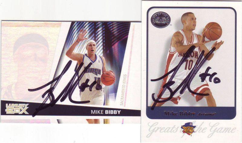 Autographes TTM de Mike Bibby